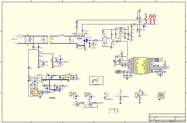 美的电磁炉维修电路图